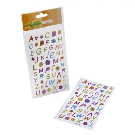 STICKERS CORAZON Y LETRAS BRILLANTES