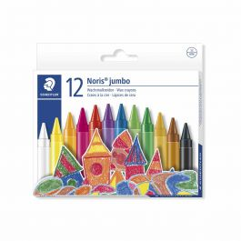 LAPICES DE CERA 12 COLORES JUMBO REDONDO NORIS 22
