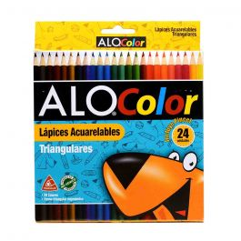 LAPICES ACUARELABLES 24 COLORES TRIANGULARES