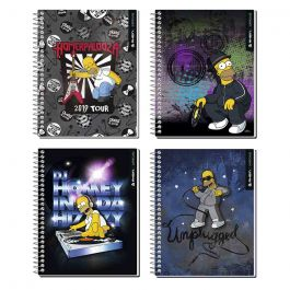 CUADERNO CARTA 7MM 120HJ SUP CLASS SIMPSONS