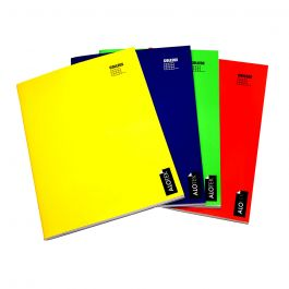 CUADERNO COLLEGE 5MM 80HJ LISO ROJO