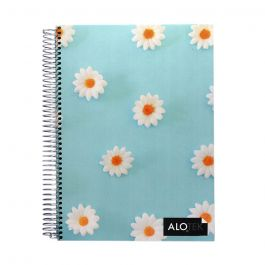 CUADERNO TOP 7MM 120HJ FLORES